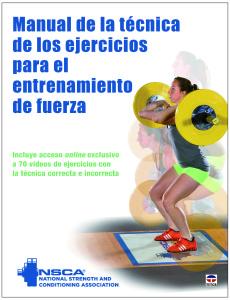 Manual de la técnica de los ejercicios para el entrenamiento de fuerza